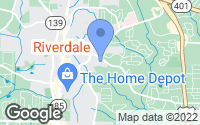 Map of Riverdale, GA